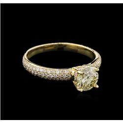 1.32 ctw Diamond Ring - 14KT Yellow Gold