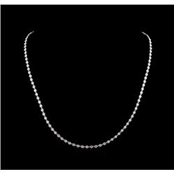 7.01 ctw Diamond Necklace - 18KT White Gold