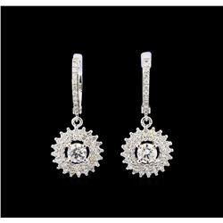 14KT White Gold 1.67 ctw Diamond Earrings