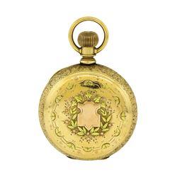 Vintage Elgin G.M. Wheeler Pocket Watch - 14KT Two Tone Gold