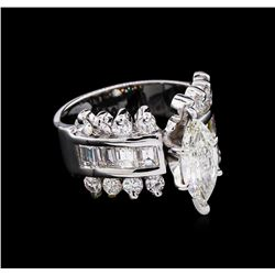 3.99 ctw Diamond Ring - 14KT White Gold