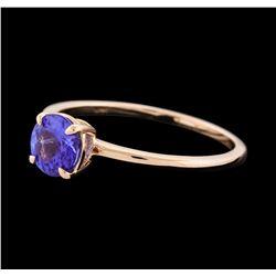 0.81 ctw Tanzanite Ring - 14KT Rose Gold
