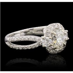 18KT White Gold EGL Certified 1.71 ctw Diamond Ring