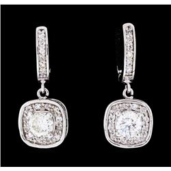 1.56 ctw Diamond Earrings - 14KT White Gold