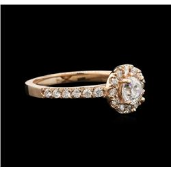 0.95 ctw Diamond Ring - 14KT Rose Gold