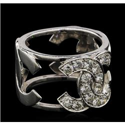 0.75 ctw Diamond Ring - 18KT White Gold