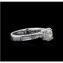 Platinum 1.64 ctw Diamond Ring
