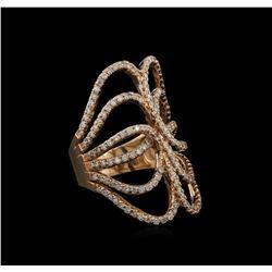 1.35 ctw Diamond Ring - 14KT Rose Gold