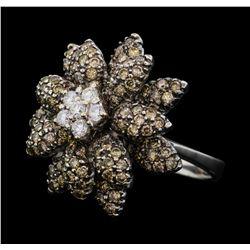 2.16 ctw Diamond Ring - 18KT White Gold