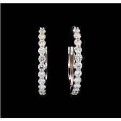 2.00 ctw Diamond Earrings - 18KT White Gold
