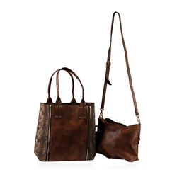 Brown Grizzly Oversized Handbag