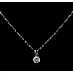 0.46 ctw Diamond Pendant With Chain - 14KT White Gold