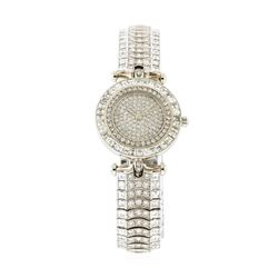 Van Cleef & Arpels 18KT White Gold 12.85 ctw Diamond Ladies Watch