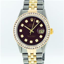 Rolex Two Tone 2.75 ctw Diamond DateJust Men's Watch