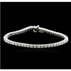14KT White Gold 3.71 ctw Diamond Tennis Bracelet