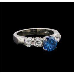 1.75 ctw Fancy Blue Diamond Ring - Platinum