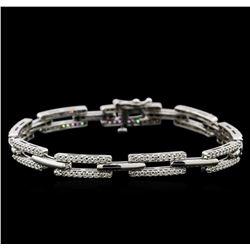 1.90 ctw Diamond Bracelet - 14KT White Gold