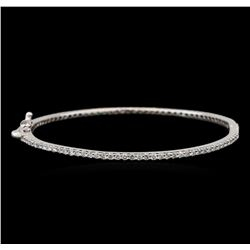 14KT White Gold 2.05 ctw Diamond Bangle Bracelet