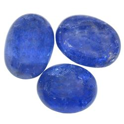 24.98 ctw Oval Mixed Tanzanite Parcel