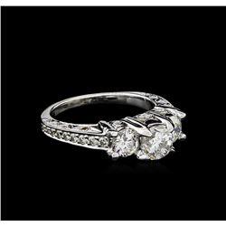 2.34 ctw Diamond Ring - 18KT White Gold