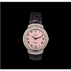 Rolex 18KT White Gold 1.00 ctw Diamond Cellini Watch