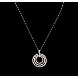 2.28 ctw Diamond Pendant With Chain - 14KT Tri-Tone Gold