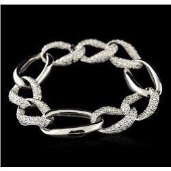 18KT White Gold 3.59 ctw Diamond Bracelet