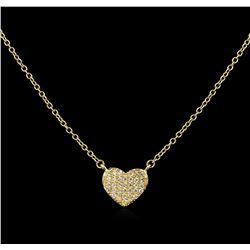 0.12 ctw Diamond Necklace - 14KT Yellow Gold