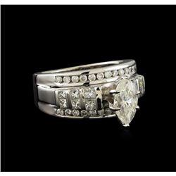 2.11 ctw Diamond Ring - 14KT White Gold