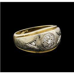 14KT Yellow Gold 0.18 ctw Diamond Ring