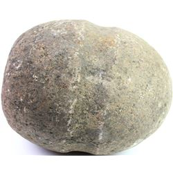 """Early stone hammer showing overall good condition approx, 5 1/2"""" long X 4 1/2"""" tall."""
