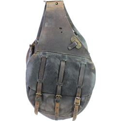 U.S. saddle bags in overall good condition, one side has been relaced, straps and buckles intact, U.