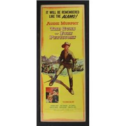 """Audie Murphy """"The Guns of Fort Petticoat"""" movie poster, good overall condition, bright colors, NO te"""