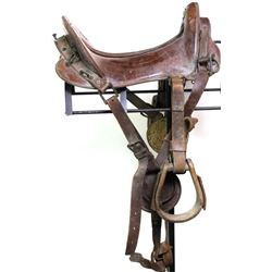 U.S. McClellan saddle in overall fair condition.
