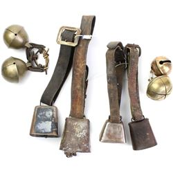 Collection of 8 cow bells.