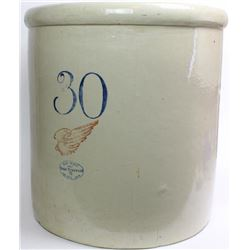 """Red Wing 30 gallon crock 23"""" tall marked to the front, all show very good    condition, NO chips cra"""