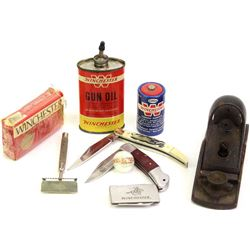 Collection of misc. Winchester marked items.