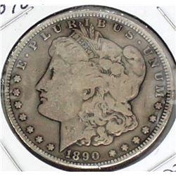 1890 CC Morgan Silver Dollar.