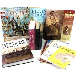 Collection of 10 books includes LA Huffman, The Plains Indians, Commanders of the Civil War and more