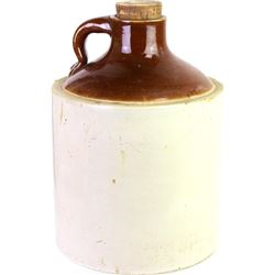 Unmarked stoneware whiskey shoulder jug with large mouth, very good with NO chips, cracks or repairs