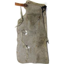 Vintage N. Porter kids chaps with outside pockets, 3 conchos down each leg, belt show repair.