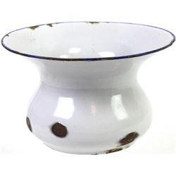 """Antique white porcelain spittoon the bottom marked made in Germany, 5 1/2"""" X 9""""."""