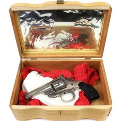 """""""Lady Set"""" with non functioning antique H&R tip up revolver .32 cal."""