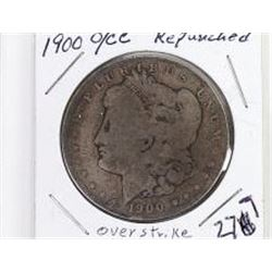 1900 repunched O/ CC Morgan Silver Dollar.