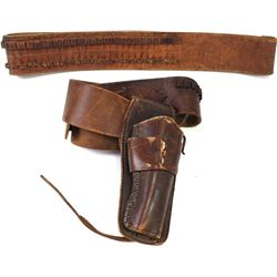 """Collection of 2 includes unmarked holster rig for 22 caliber, fits 32-36"""" waist and an unmarked rifl"""