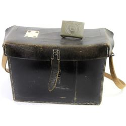 Collection of 2 German Nazi marked items includes leather case with shoulder strap and buckle.