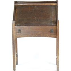 Mission Oak drop front desk by the Grand Rapids Bookcase and Chair CO., exterior fair, interior incl