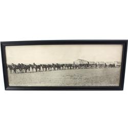 """B&W photo """"The String Team"""" by Morris and Kirby Chinook Mont., nice reprint, image 8"""" X 22""""."""