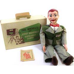 "Original ventriloquist dummy ""Paul Winchells Jerry Mayhoney"" 30"" tall showing very good to fine cond"