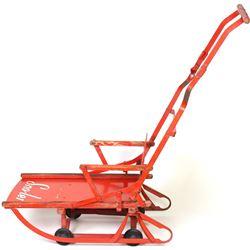 Vintage combination sled stroller marked sno-ler.